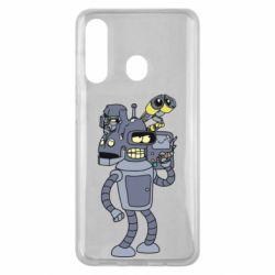 Чехол для Samsung M40 Bender and the heads of robots