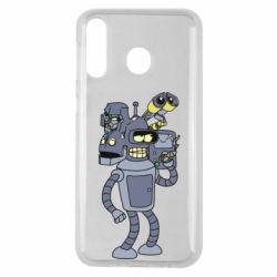 Чехол для Samsung M30 Bender and the heads of robots