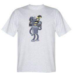 Чоловіча футболка Bender and the heads of robots