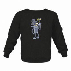 Дитячий реглан (світшот) Bender and the heads of robots