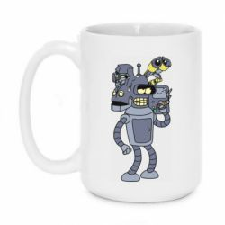 Кружка 420ml Bender and the heads of robots