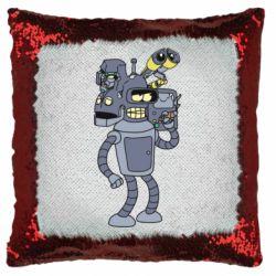 Подушка-хамелеон Bender and the heads of robots