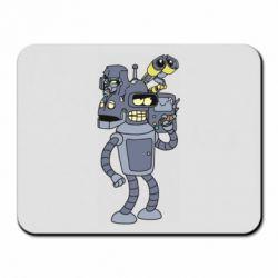 Килимок для миші Bender and the heads of robots