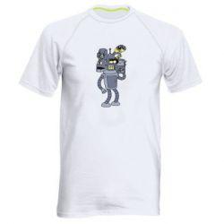 Чоловіча спортивна футболка Bender and the heads of robots