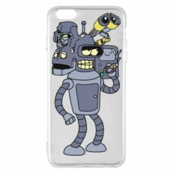 Чохол для iPhone 6 Plus/6S Plus Bender and the heads of robots