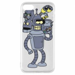 Чохол для iPhone 7 Bender and the heads of robots