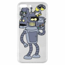 Чохол для iPhone 7 Plus Bender and the heads of robots