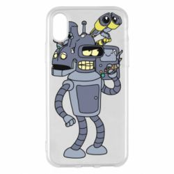 Чохол для iPhone X/Xs Bender and the heads of robots