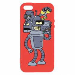 Чохол для iPhone 5 Bender and the heads of robots