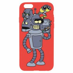 Чохол для iPhone 6 Bender and the heads of robots
