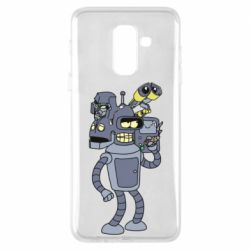 Чохол для Samsung A6+ 2018 Bender and the heads of robots