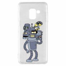 Чохол для Samsung A8 2018 Bender and the heads of robots
