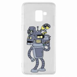 Чохол для Samsung A8+ 2018 Bender and the heads of robots