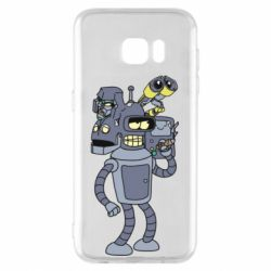 Чехол для Samsung S7 EDGE Bender and the heads of robots