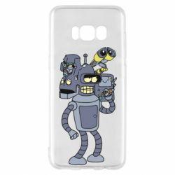 Чехол для Samsung S8 Bender and the heads of robots