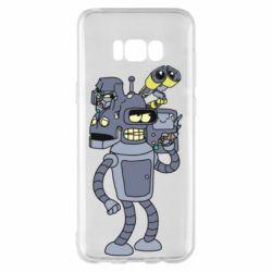 Чехол для Samsung S8+ Bender and the heads of robots