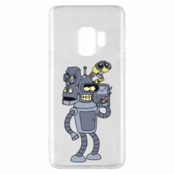 Чехол для Samsung S9 Bender and the heads of robots