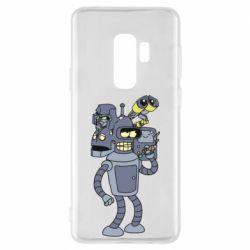 Чехол для Samsung S9+ Bender and the heads of robots