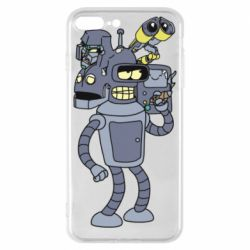 Чохол для iPhone 8 Plus Bender and the heads of robots