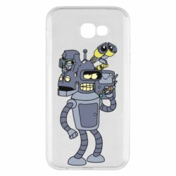 Чохол для Samsung A7 2017 Bender and the heads of robots
