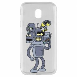 Чохол для Samsung J3 2017 Bender and the heads of robots