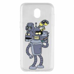 Чохол для Samsung J5 2017 Bender and the heads of robots