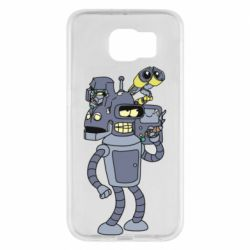 Чехол для Samsung S6 Bender and the heads of robots