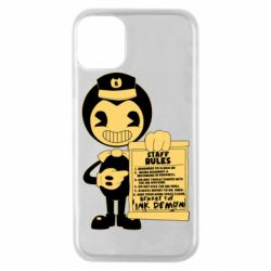 Чехол для iPhone 11 Pro Bendy and the Ink Machine staff rules