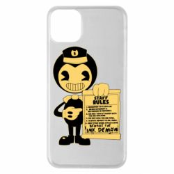 Чехол для iPhone 11 Pro Max Bendy and the Ink Machine staff rules