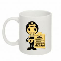Кружка 320ml Bendy and the Ink Machine staff rules