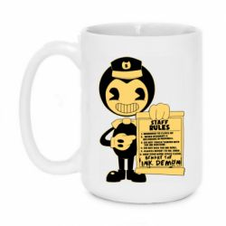 Кружка 420ml Bendy and the Ink Machine staff rules