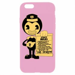 Чехол для iPhone 6/6S Bendy and the Ink Machine staff rules