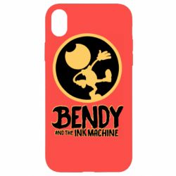 Чехол для iPhone XR Bendy and the Ink Machine text