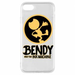 Чехол для iPhone 7 Bendy and the Ink Machine text