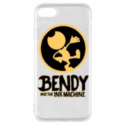 Чехол для iPhone 8 Bendy and the Ink Machine text