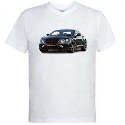 Чоловіча футболка з V-подібним вирізом Bentley car3