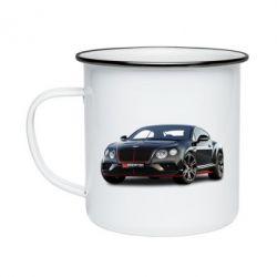 Кружка емальована Bentley car3