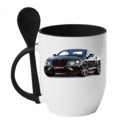 Кружка з керамічною ложкою Bentley car3