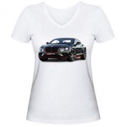 Жіноча футболка з V-подібним вирізом Bentley car3