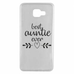 Чохол для Samsung A7 2016 Best auntie ever