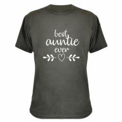 Камуфляжна футболка Best auntie ever