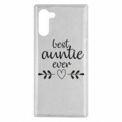 Чохол для Samsung Note 10 Best auntie ever