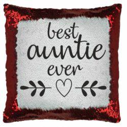 Подушка-хамелеон Best auntie ever