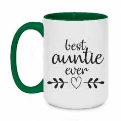 Кружка двоколірна 420ml Best auntie ever