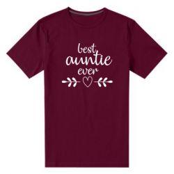 Чоловіча стрейчева футболка Best auntie ever