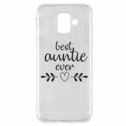 Чохол для Samsung A6 2018 Best auntie ever
