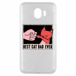 Чехол для Samsung J4 Best cat dad ever