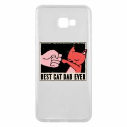 Чехол для Samsung J4 Plus 2018 Best cat dad ever