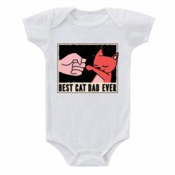 Детский бодик Best cat dad ever