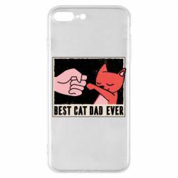 Чехол для iPhone 7 Plus Best cat dad ever